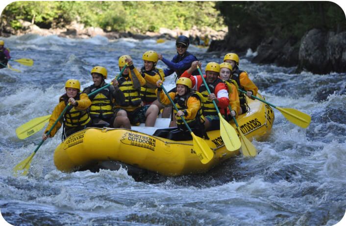 high school students take part in a white water rafting trip in california as part of their boarding school summer program